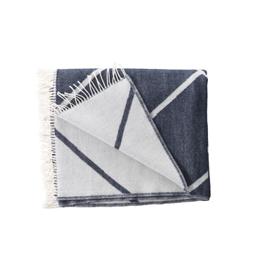 by Lassen - Mesch Woollen Blanket, navy blue