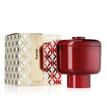 Scented candle Nikko by Kartell in red with the fragrance Ad Red Naline