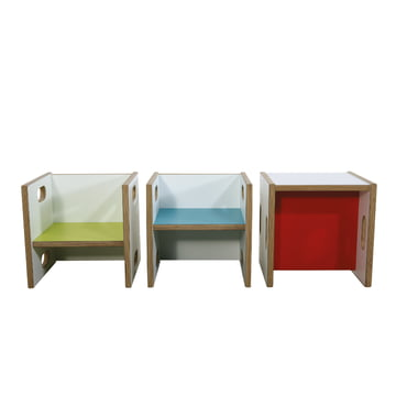 debe.detail Convertible Chair at three different heights