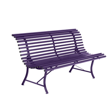 Louisiane Bench in the colour aubergine by Fermob