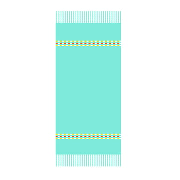 Fouta Palmyre Beach Towel 100 x 200 cm in Lagoon Blue by Fermob