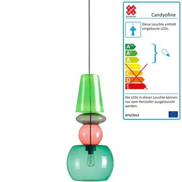 Candyofnie pendant lamp by Fatboy with 4 candies