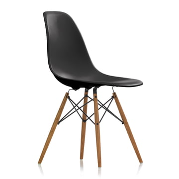 Vitra - Eames Plastic Side Chair DSW, ash honey / basic dark