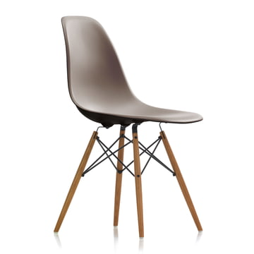 Vitra - Eames Plastic Side Chair DSW, ash honey / mauve grey