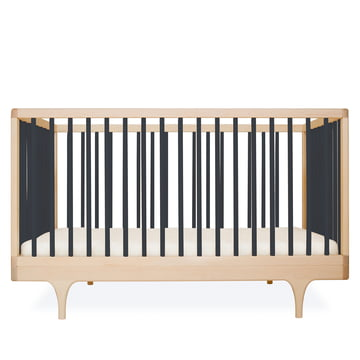 Baby crib Caravan by Kalon made from maple in black