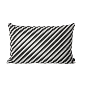 Striped Cushion in Black and White by ferm Living