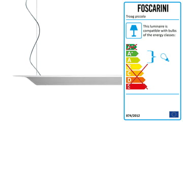 The Troag Pendant Lamp piccola by Foscarini in white, 2m