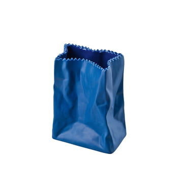 Rosenthal - Paper Bag Vase, 10cm, dark blue