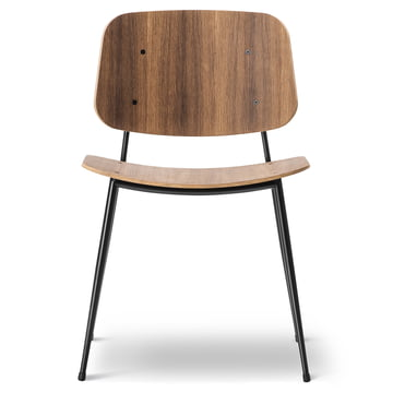 Søborg Chair by Fredericia made of smoked oak and chrome
