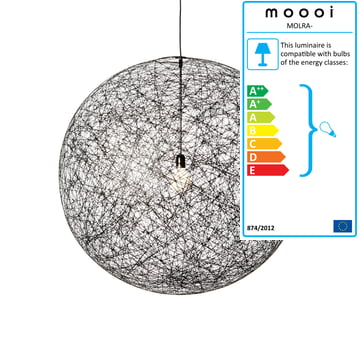 Moooi - Random Light Pendant Light, M, black