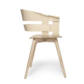 The Wick Chair Wood in ash by Design House Stockholm