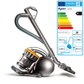Dyson - DC33c Extra, silver / yellow