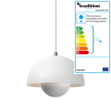 &Tradition - FlowerPot Pendant Lamp VP1, matte white