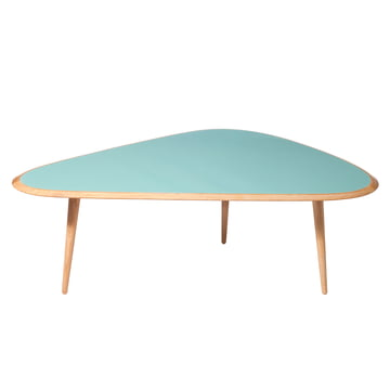 Large Fifties Coffee Table by red edition in mineral green (L09)