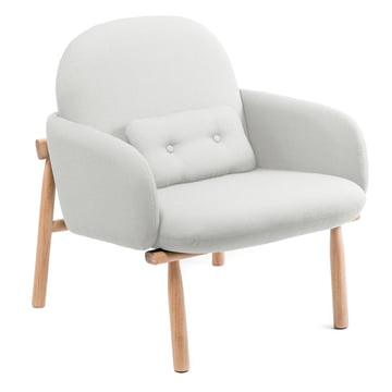 Georges armchair by Hartô in light grey (swing 51807)