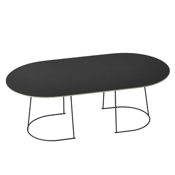 The Airy coffee table, large in black from Muuto