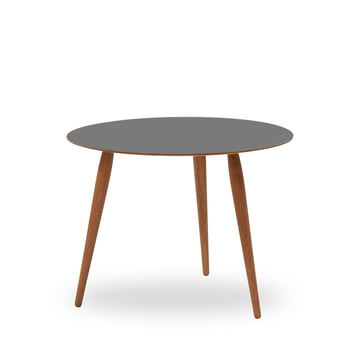 Play Round Laminate Side Table Ø 60 cm by bruunmunch in Storm Grey / oak oiled