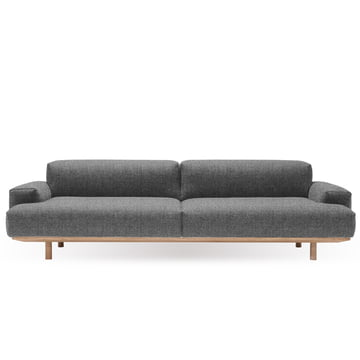 Reason 2.5-Seater from bruunmunch with Kvadrat fabric Rustic 136