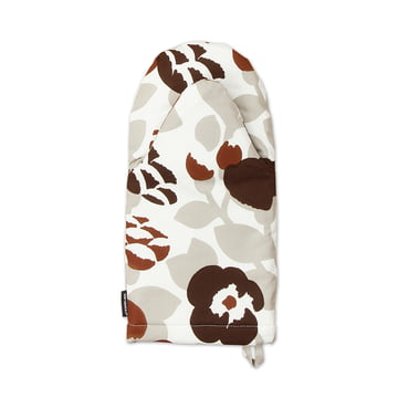 Marimekko - Pieni Green Green Oven Glove, grey white / brown