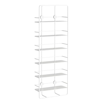 Coupé Vertical Shelf by Woud in white