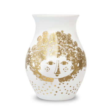 Vase Felicia by Bjørn Wiinblad in Golden Colour