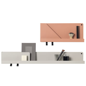 Folded shelf in large and small