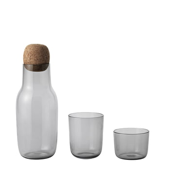 Corky Drinking Glass with Carafe in Grey
