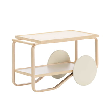 Tea Trolley by Artek in Creme