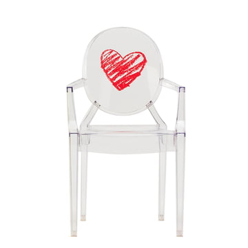 Lou Lou Ghost Children's Chair by Kartell in Transparent / Heart