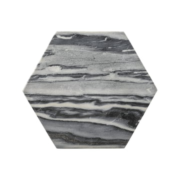 Marble Cutting Board hexagonal by Bloomingville in grey.
