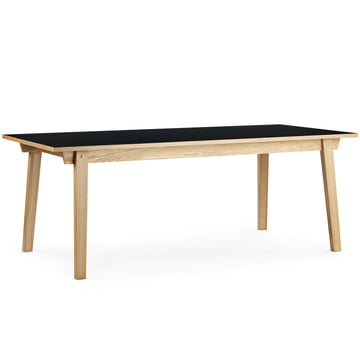 Normann Copenhagen - Slice table linoleum 90 x 250 cm, black