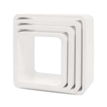 Cube shelf square (set of 4) by Sebra in White