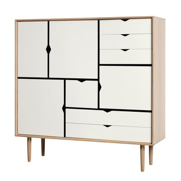 S3 Sideboard by Andersen Furniture in soaped oak / front panels white