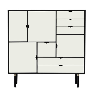 S3 Sideboard by Andersen Furniture in Oak black lacquered / Doors white