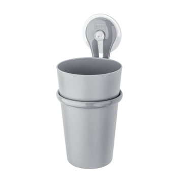 Koziol - Toothbrush Cup Loop, cool gray