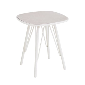 Lyze table 40 x 40 cm by Emu in white