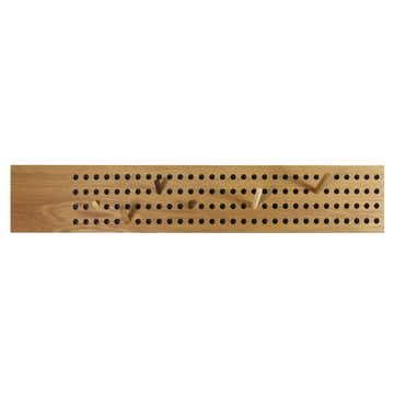 The We Do Wood - Scoreboard Coat Rack, Horizontal in Natural Oak
