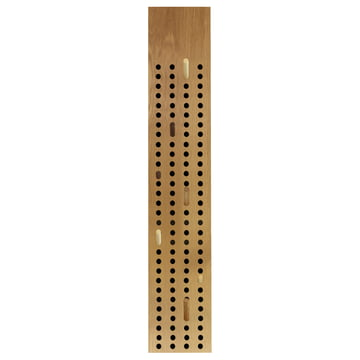 The We Do Wood - Scoreboard Coat Rack, Vertical in Natural Oak