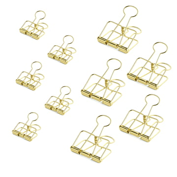 Outline Paper Clips by Hay in Gold (10 pcs)