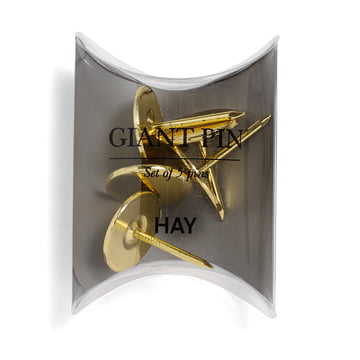 Giant Pins by Hay in gold (5 pcs)