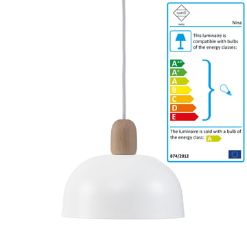 Nina pendant lamp by Hartô in white (RAL 9016)