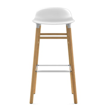 Form Bar Stool 75 cm by Normann Copenhagen made of oak in white