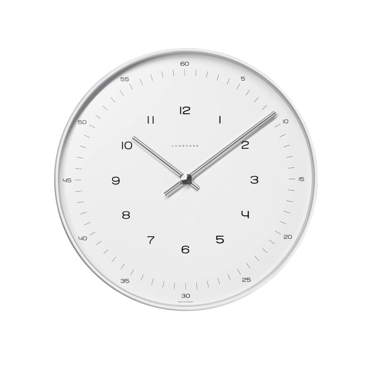 max bill wall clocks numbers by junghans. Black Bedroom Furniture Sets. Home Design Ideas