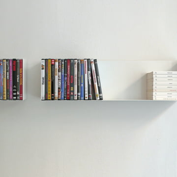 linea1 a book and DVD shelf filled with DVDs