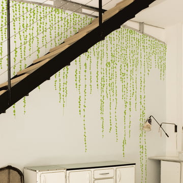 Domestic - Jungle Peas Wall Stickers, green