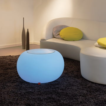 Moree - Bubble Indoor LED - Side table with glass top