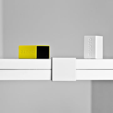 "Muuto - clips for ""Stacked"" Shelf System, white (set of 5)"
