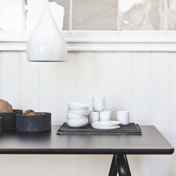 The stacked felt table sets with Scandinavian charm