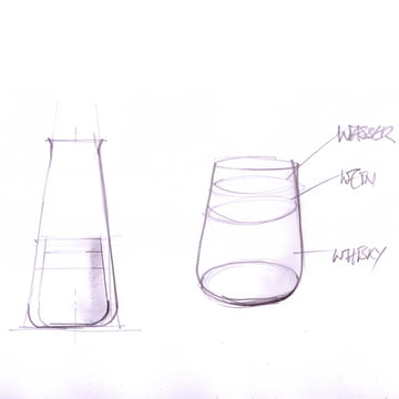 Auerberg - Glass Series, sketch of all glasses