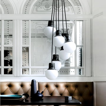 The Mass Light NA6 pendant light by &Tradition - nine NA5 lights are combined into a single pendant light